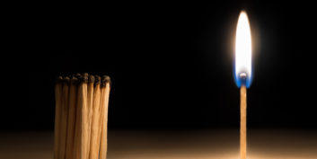 Lit match with unlit match, learning to stand out your next job interview.