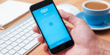 Skype, one of the communication tools for telecommuters.