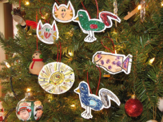 Using Christmas ornaments to pay it forward.