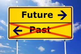 Sign pointing to the future. How to make a career change.