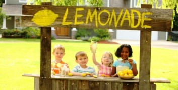Lemonade stand is a favorite part-time job