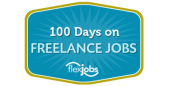 100 days on freelance jobs logo white border 2