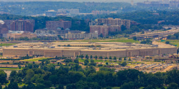 The Pentagon, housing government agencies with remote jobs and flexible work.