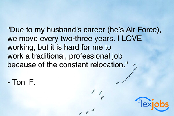 Love of Work Helps Milspouse Find Part-time Remote Job