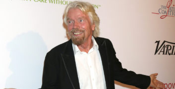 Richard Branson, one of the high-level execs who believes in work flexibility.