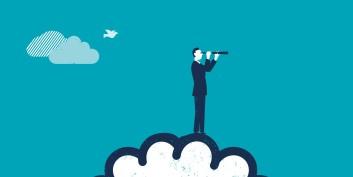 Man looking through binoculars, focusing on skills worth developing