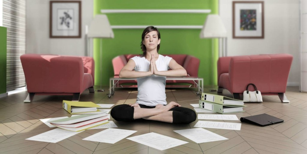 Using yoga to reduce job search stress.