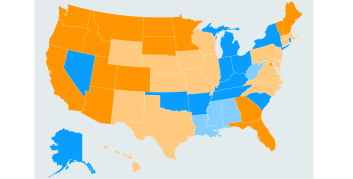 Infographic of where the most full-time telecommuters reside