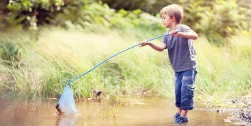 Young child fishing for recruiter secrets