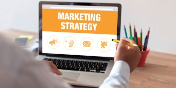 Flexible marketing manager working from home