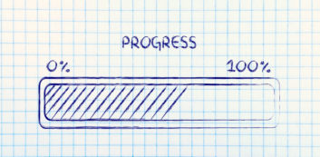 Chart tracking progress on New Year's job search resolutions.