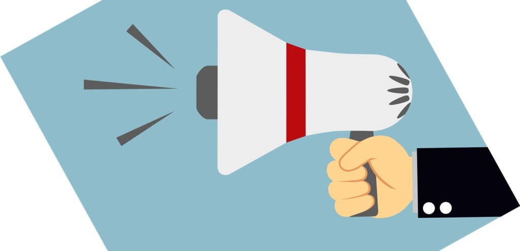 Using a bullhorn to capture a recruiter's attention.