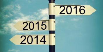 Sign pointing to New Year's job resolutions for 2016