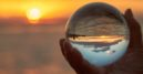 Looking at the future labor market in a glass globe.