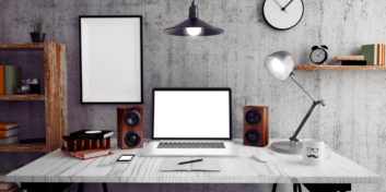 Example home office desk setup for those with part-time telecommute jobs