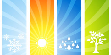 Different seasons representing your seasonal job