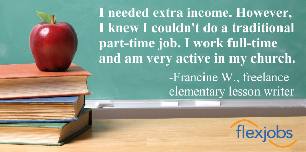 Francine W., finds a freelance job and more time for church activities.