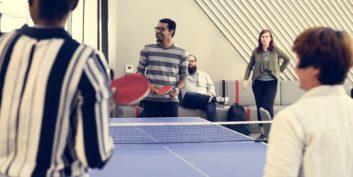 Employees enjoying their employee benefits.