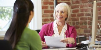 Job seeker learning to make a modern resume