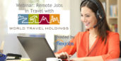 Job seeker on a webinar with World Travel Holdings.