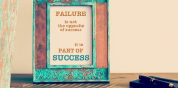 Sign turning career failures into successes