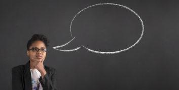 Job seeker thinking about an instructional designer job.