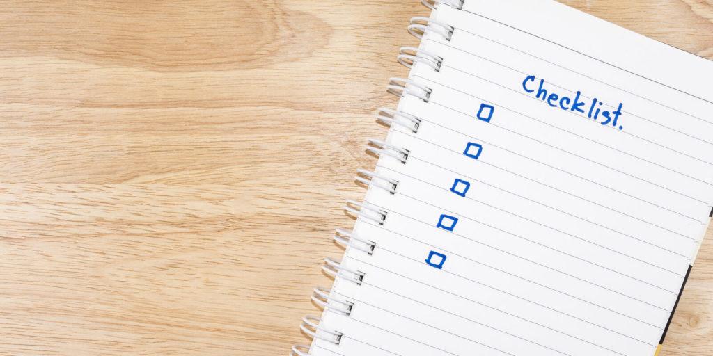 photo of a resume checklist