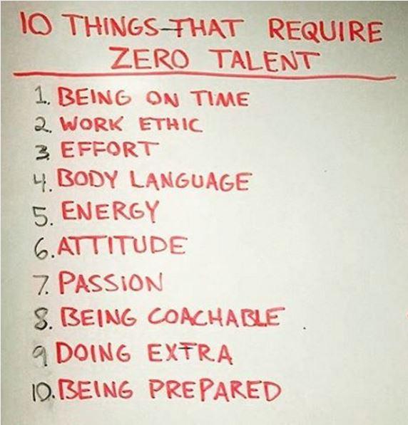 10 things zero talent