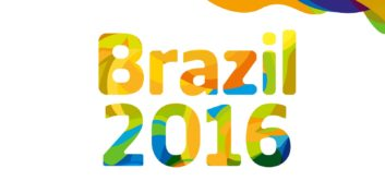Brazil 2016 Olympics sign for jobs for Olympians.