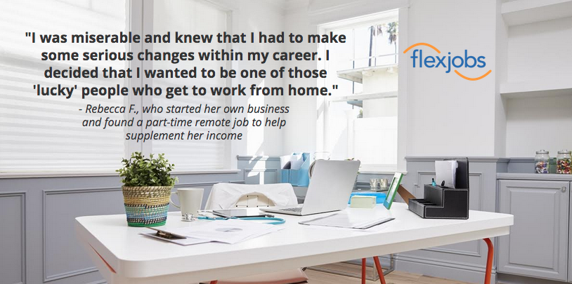Quote from Rebecca who found a better work-life fit.