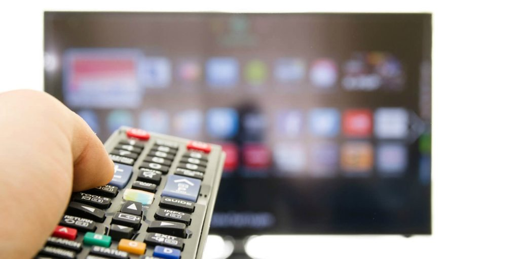 Remote control choosing must-see tv for job seekers.