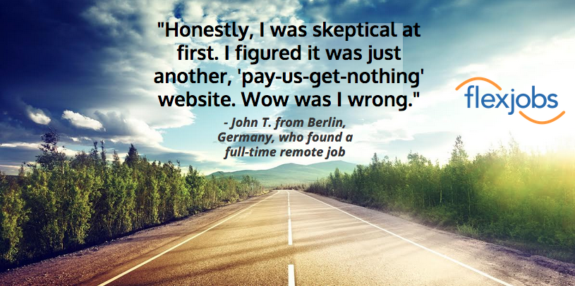john t success story quote image, john t. found a remote job after a long job search