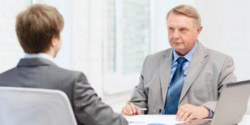 Employer interviewing older job seekers.