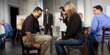 Actors at Second City Works.