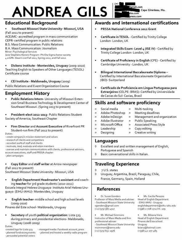 Creative Business Resume  Professional Looking Resume