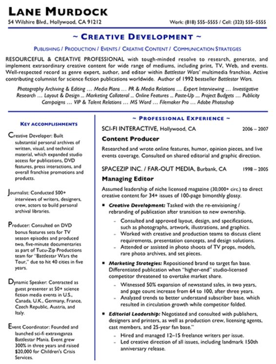 Creative Content Resume  How To Make A Creative Resume