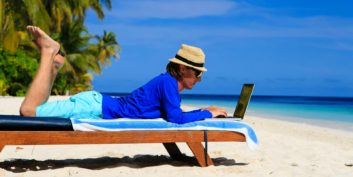 Worker experiencing trends in workplace flexibility.