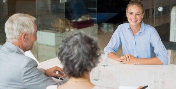 Woman job seeker learning about the skills she'll need in the future workplace.
