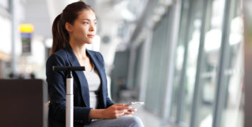 Young woman going back to work after vacation