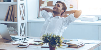 Worker who understands how getting a flexible job might save your health