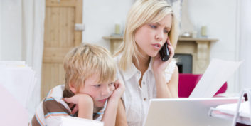 Job seeker learning tips to keep your kids from distracting you during a job search