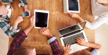 Family looking at flexible innovative companies for families