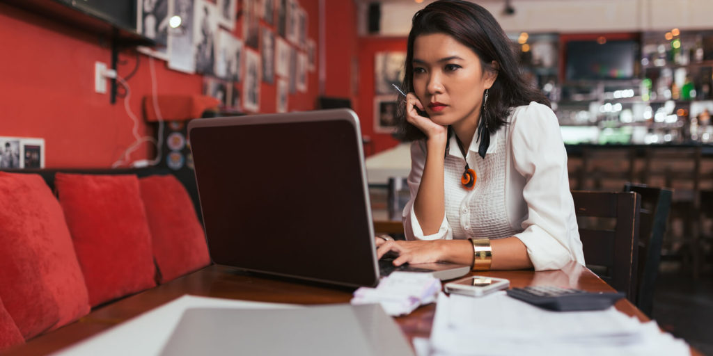 Woman looking at tips to narrow your career path.