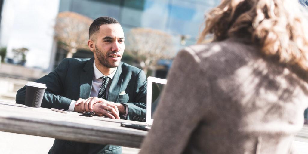 First-time job seeker in an interview