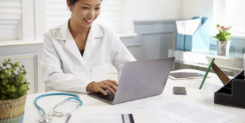 Woman trying to find remote medical coding jobs.