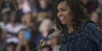 Michelle Obama offering quotes about flexible work.