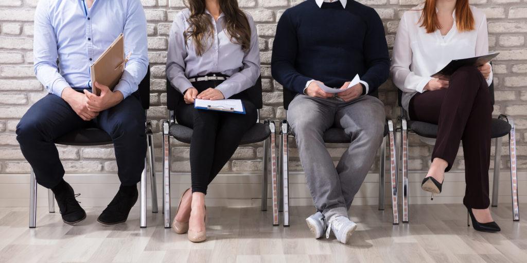 Job seekers looking for companies now hiring.