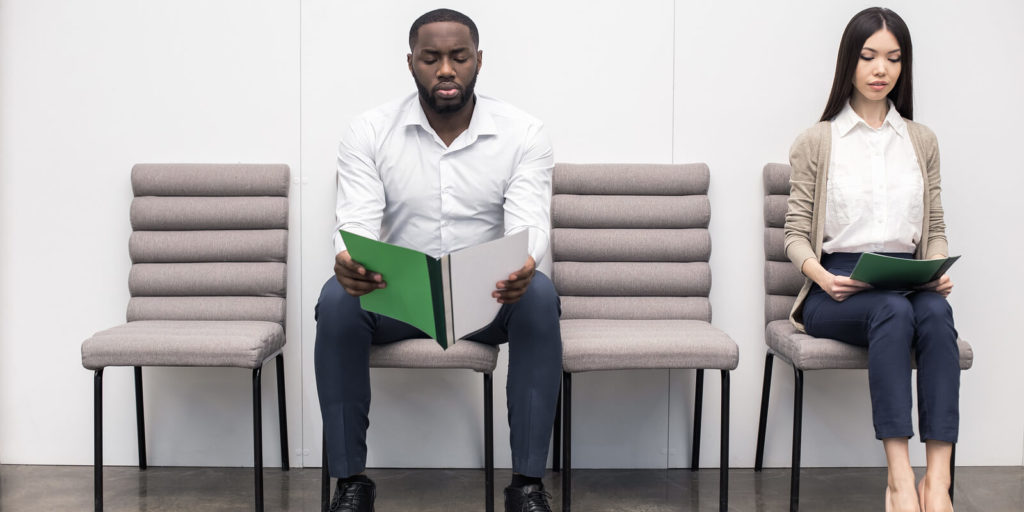 Job seeker coming up with creative ways to stand out in a job interview.
