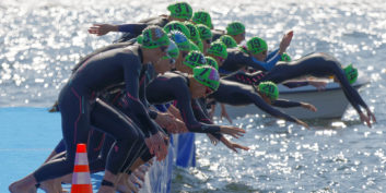 Swimmers as an example of how to jump start your day.