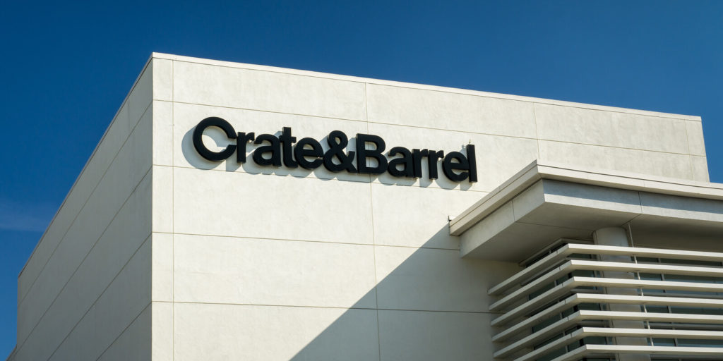 Crate and Barrel, one of the flexible companies perfect for people who love shopping.